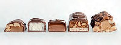 chocolate enrobed bars